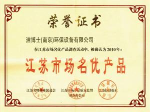 洁博士名优产品证书