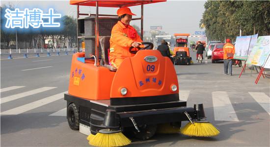 电动扫地车使用在市政环卫