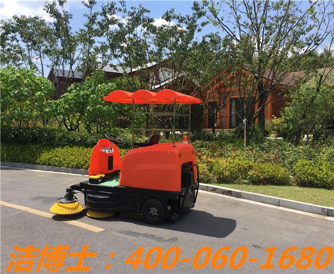 洁博士电动清扫车客户案例—凤凰谷天澜度假中心