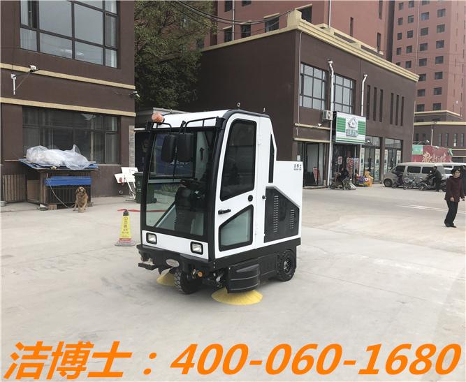 洁博士驾驶清扫车用户案例——长治浩鹰物业管理