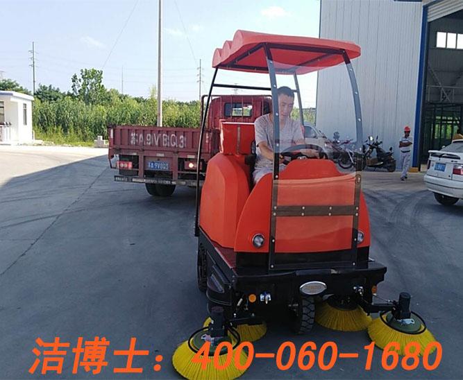 洁博士电动扫地车客户案例——重庆金牛建筑劳务有限公司