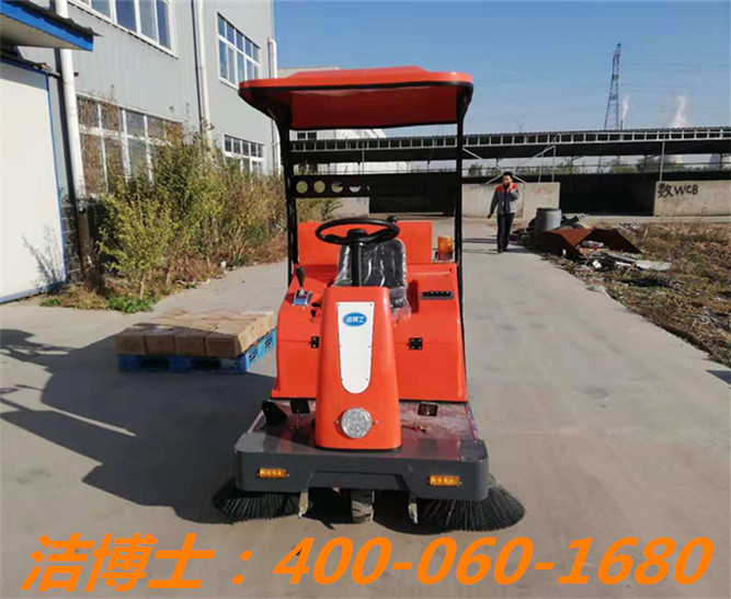 洁博士驾驶扫地车客户案例——沧州铨鑫科技阀业有限公司