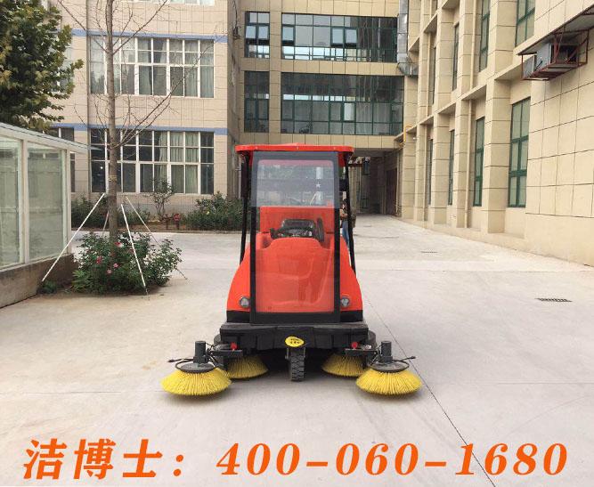 洁博士电动扫地车客户案例——河南郑州奥特制衣有限公司
