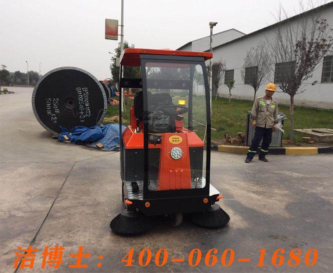 洁博士驾驶扫地车客户案例——陕西富平生态水泥有限公司