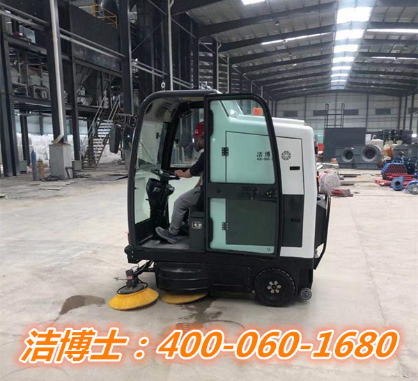 洁博士驾驶扫地车客户案例-江西省坚基高新硅材料有限公司