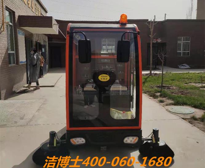 洁博士驾驶扫地机客户案例-喀什众瑞物业服务有限公司