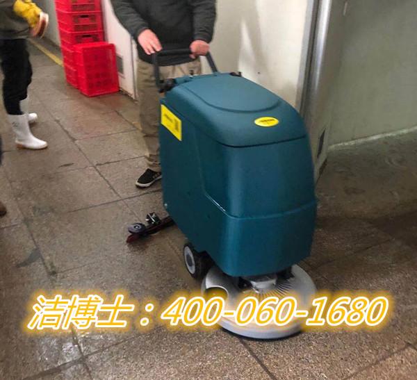 洁博士手推洗地机客户案例-青岛坤罡物业管理股份有限公司