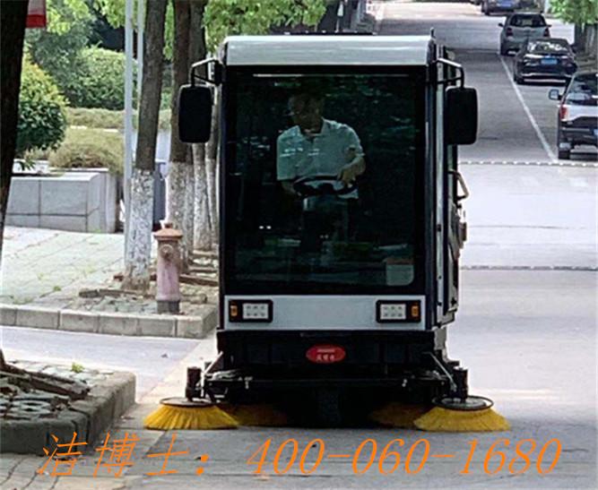 洁博士电动清扫车用户案例——南京谷峰园林绿化工程有限公司